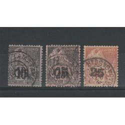 MADAGASCAR 1889 SOPRASTAMPATI 3 VAL USATI MF19701