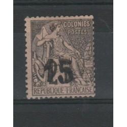 MADAGASCAR 1891 SOPRASTAMPA GRANDE 1 VAL USATO YVERT 5 MF19719