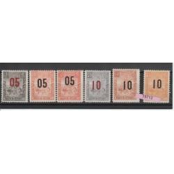 MADAGASCAR 1902  ALLEGORIA SOPRAST 5 VAL USATI MF19710