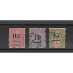 MADAGASCAR 1902  ALLEGORIA SOPRAST 3 VAL USATI MF19707