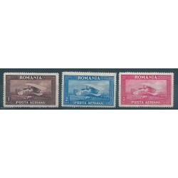 1928  ROMANIA BIPLANO SPAD 33  3 VALORI MLH MF40595