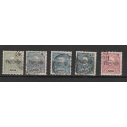 1902   MACAO MACAU  PROVVISORIO 5 VAL USATI MF19958