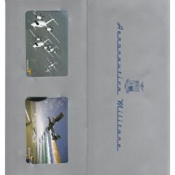 2008  SCHEDE TELEFONICHE AEREONAUTICA 1 FOLDER 4 TESSERE NUOVE MF19942