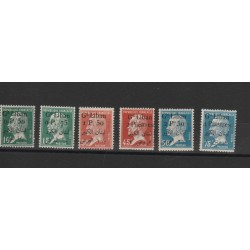 1924 - 25 LIBANO GRAND-LIBAN SOVRASTAMPATI 6 VAL MLH  MF19786