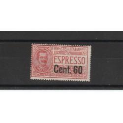1922 REGNO ITALIA ESPRESSO SOPRASTAMPATO C 60 SASSONE N 6 - 1 V MNH MF19751