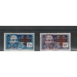 AFRIQUE EQUATORIALE FRANCAISE 1943 SOPRASTAMPATA  2 VAL MNH MF19808