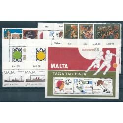 198 MALTA ANNATA COMPLETA 19 VALORI E 1 BF NUOVI MNH MF40713