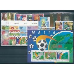 1994 MALTA ANNATA COMPLETA 25 VALORI E 1 BF NUOVI MNH MF40720
