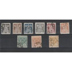 1892  IRAN - PERSIA  ALLEGORIA EFFIGIE 9 VAL USATI  MF19764