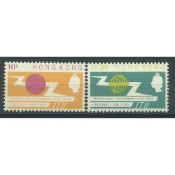 HONG KONG 1965 CENTENARIO UIT U.I.T.  2 VALORI YV 212-213 MNH MF24921
