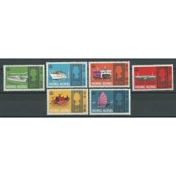 HONG KONG 1968 ELISABETTA II NAVI E BATTELLI 6 V NUOVI MNH YV 230-35 MF24903