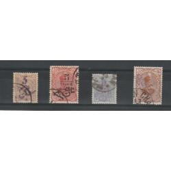 1901-2 IRAN - PERSIA SOPRASTAMPA BILINGUE  4 VAL USATI MF19892