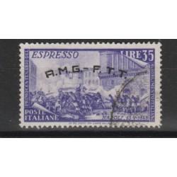 1948 TRIESTE A AMG-FTT EXPRESSO CENTENARIO DEL RISORGIMENTO 1 VAL USATO  MF19969