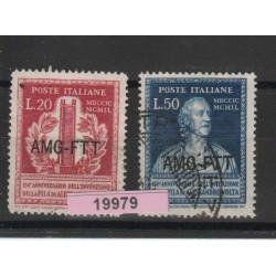 1949 TRIESTE A 150 ANN INVENZIONE PILA DI VOLTA 2 VALORI USATI MF19979