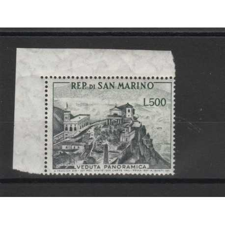 1958 SAN MARINO VEDUTA PANORAMICA L 500 1 V MNH MF50015