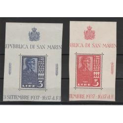 1937 SAN MARINO LINCON 2 VAL MNH MF50045