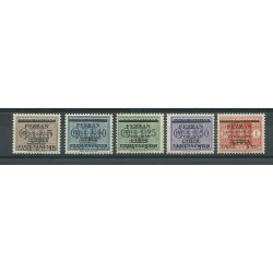 1943 FEZZAN SERIE SEGNATASSE SOPRASTAMPATI 5 V MNH CERT BOLAFFI MF24989