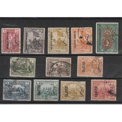 1924-25  IRAQ SERVIZIO SOPRASTAMPATI  12 VAL USATI 50113