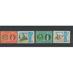 1968  IRAQ  SCOUT 4 VAL MNH MF50140