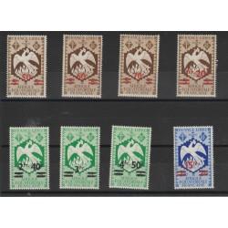 AFRIQUE EQUATORIALE FRANCAISE1945 LONDRA SOPRAST 8 VAL MNH MF50125