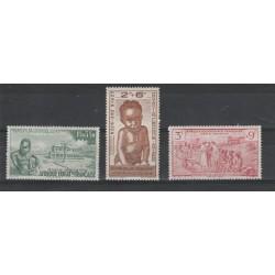 AFRIQUE EQUATORIALE FRANCAISE 1943  SENZA R F  4  VAL MNH MF50126