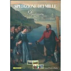 2010 ITALIA REPUBBLICA FOLDER 150 ANNIVERSARIO SPEDIZIONE DEI MILLE   MF40844