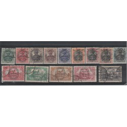 1920 GERMANIA OCCUPAZIONI ALLESTEIN  SOPRASTAMPATI 14 VAL UNIF 15 -28 USATI MF50169