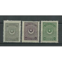 1923 TURCHIA STELLA E MEZZA LUNA ALTI VALORI 3 V 684-686 MNH CAFFAZ MF24990