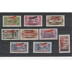 1928-30 GRAN LIBANO REP LIBANESE SOPRASTAMPATI 10 VAL MLH MF50245
