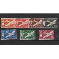 DJIBOUTI 1943  POSTA AEREA LONDRA  7 VAL  MLH MF50177
