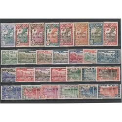 GUYANA GUYANE 1932-38  SOPRASTAMPATI  28 VAL MLH YV 1-28 MF50263