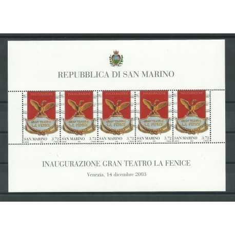 2003 SAN MARINO FOGLIETTO RIAPERTURA TEATRO LA FENICE VENEZIA MNH MF24999