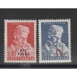 1953 TRIESTE B STT - VUJNA  FISICO TESLA  2 VAL MNH MF50241