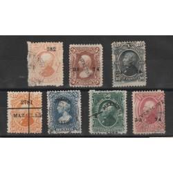 1874-80 MESSICO MEXICO MIGUEL- HIDALGO YV N 56_60 USATI 7 VAL  MF50179