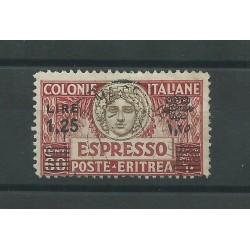 1927-35 ERITREA ESPRESSO DENTELLATURA 11 USATO - SASS n 8 CAFFAZ MF25009