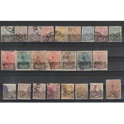 1902 IRAN - PERSIA  SOPRASTAMPA  PROVVISOIRE 24 VAL  USATI MF50291