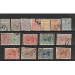 1898 IRAN - PERSIA EFFIGIE SCIA E LEONE DI PERSIA 16 VALORI USATI MF50293