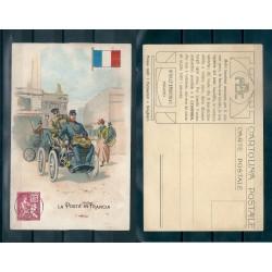 CARTOLINA PUBBLICITARIA  ACHILLE BRIOSCHI LYSOFORM LA POSTA IN FRANCIA MF40892