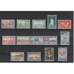 TONGA 1953 DEFINITIVA SOGGETTI DIVERSI 14 VAL MNH  MF0325