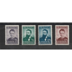 SURINAME 1950  CANCRO  YV 271-74  - 4  V MNH MF50318