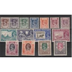 BURMA 1946 GEORGE VI SERIE DEFINITIVA 15 V MLH YV N35-49 MF50301