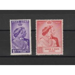 GILBERT ELLICE ISLAND 1948 NOZZE 2 VAL MLH YVERT N52-53 MF50315