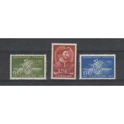 ANTILLE OLANDESI 1949  SCOPERTA ISOLA YV 197-99   3V MLH MF50338