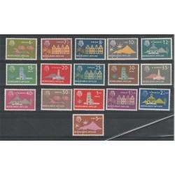 ANTILLE OLANDESI 1958 EFFIGIE VEDUTE  YV 263-75  16V MNH MF50341