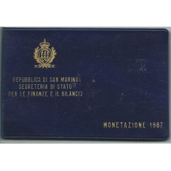 1987 SAN MARINO DIVISIONALE - MONETAZIONE 10 MONETE COINS SET FDC MF25186