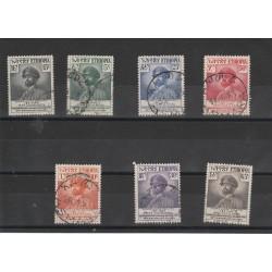 1952 ETIOPIA  RIANNESSIONE ERITREA  9 VAL USATI MF50432