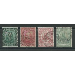 1910 REGNO SERIE  PLEBISCITO SUD ITALIA GARIBALDI 4 VALORI USATI MF16596