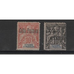 S PIERRE ET MIQUELON 1901  PACCHI POSTALI  2  V MNH MF50506