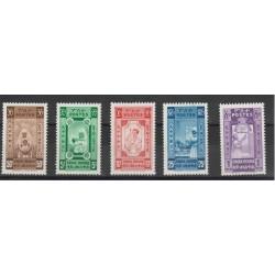 1943 ETIOPIA  PRO CROCE ROSSA  5 VAL MNH  MF50428