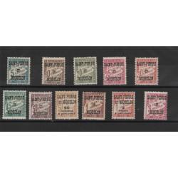 S PIERRE ET MIQUELON 1925-27 SEGNATASSE 11 V MLH MF 50510